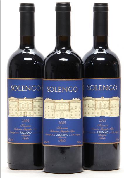 6 bts. Solengo, Tenuta di Argiano 2005 A (hf/in). Oc.