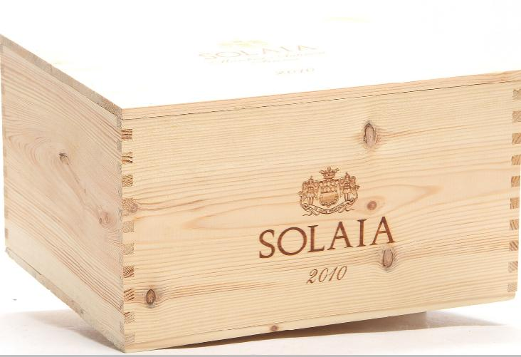 6 bts. Solaia, Marchesi Antinori 2010 A (hf/in). Owc.