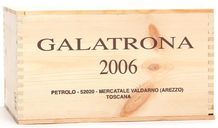 6 bts. Galatrona Toscana, Petrolo 2006 A (hf/in). Owc.