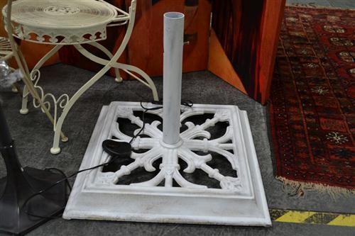 White Painted Umbrella Stand