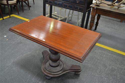 Unusual Cedar Tilt Top Table