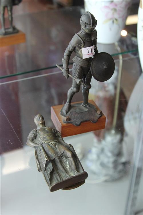 Bronze Knight Figure with a Door Knocker