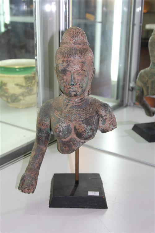 Oriental Bronze Buddha Bust & Torso