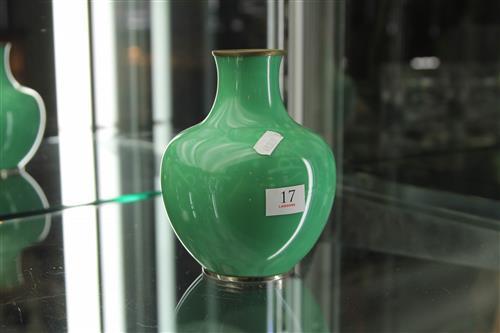 An Japanese Ando Jubei Enamel Vase