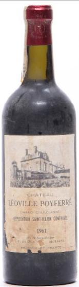 1 bt. Château Léoville Poyferré, Saint - Julien. 2. Cru Classé 1961 (Bottled in DK). A/B (ts).
