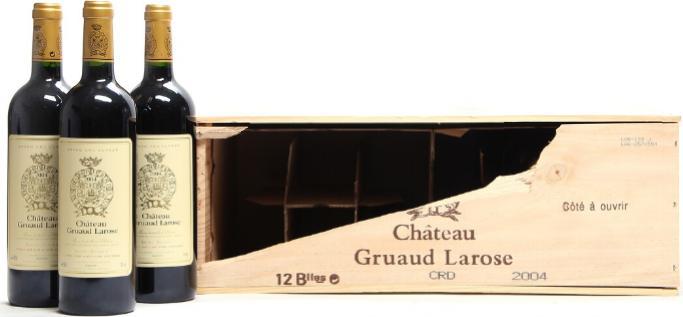 9 bts. Château Gruaud Larose, Saint - Julien. 2. Cru Classé 2004 A (hf/in). Owc