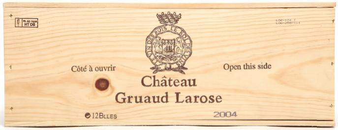 12 bts. Château Gruaud Larose, Saint - Julien. 2. Cru Classé 2004 A (hf/in). Owc