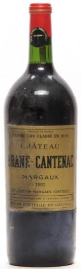1 bt. Mg. Château Brane Cantenac, Margaux. 2. Cru Classé 1982 A-A/B (bn)