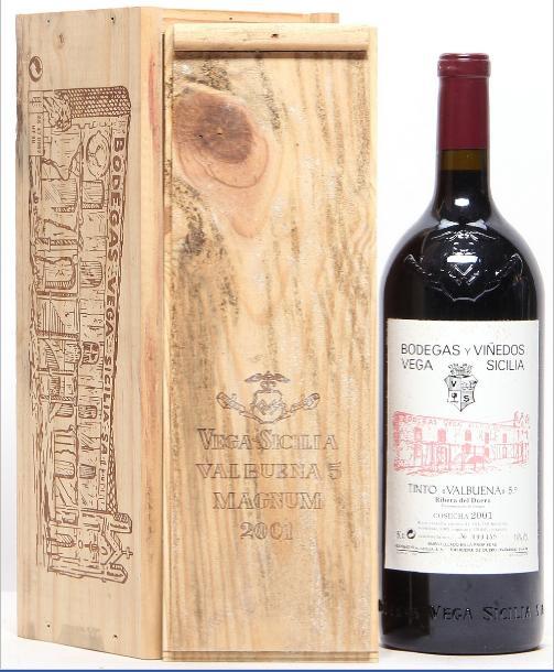 """1 bt. Mg. Vega Sicilia """"Valbuena"""", Ribera del Duero 2001 A (hf/in). Owc."""