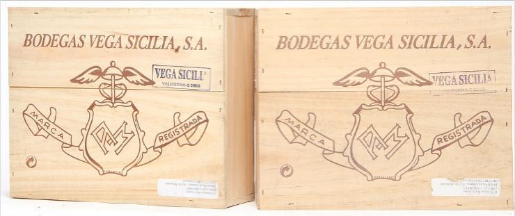 "6 bts. Vega Sicilia ""Valbuena"", Ribera del Duero 2003 A (hf/in). Owc."