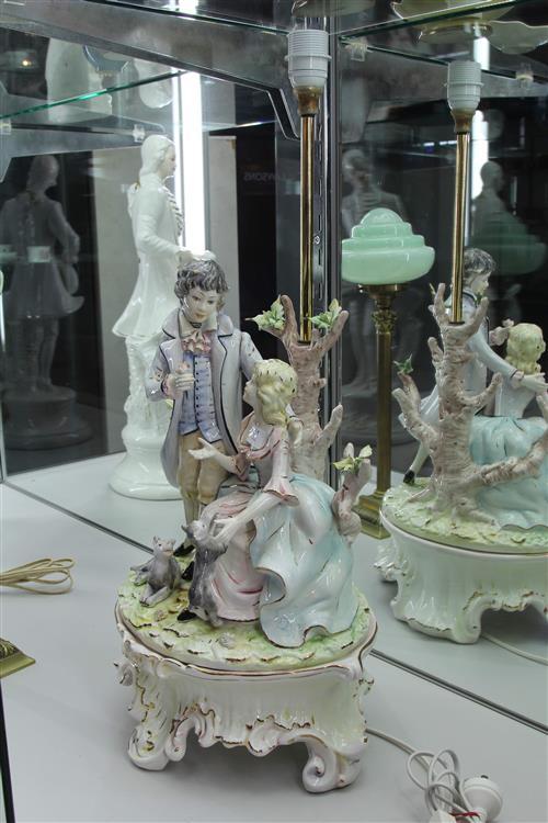 Italian Signed Ceramic Figural Lamp