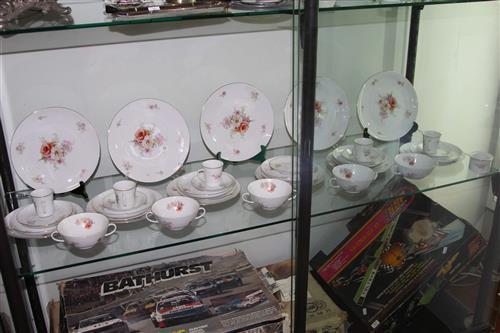 Germany Furstenberg Ceramics Incl Dish and Cups