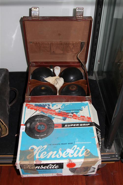Heneslite Bowls Set in Case & Another in Box