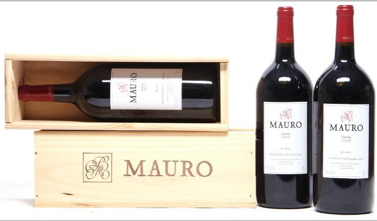 """3 bts. Mg. Mauro """"Cosecha"""", Bodegas Maurodos, Castilla Y Leon 2007 A (hf/in)."""