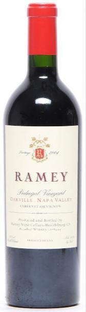 """1 bt. Cabernet Sauvignon """"Pedregal Vineyard"""", Oakville, Napa Valley, Ramey 2004 A (hf/in)."""
