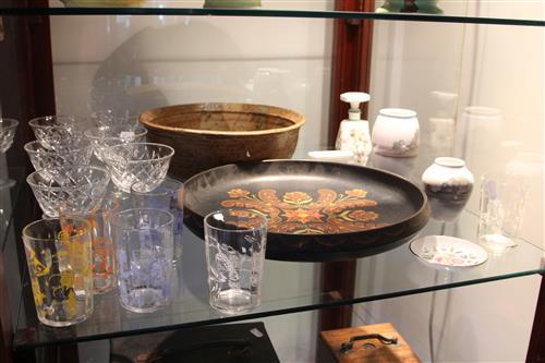 Bing & Grøndahl Vase with Other Wares incl. Webb Corbett Crystal Drink Wares