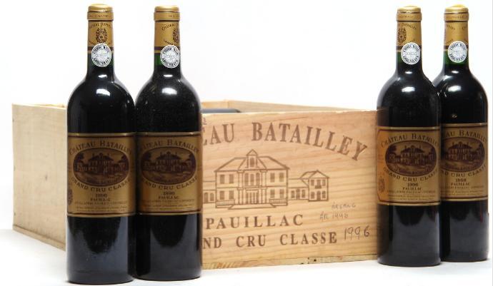 12 bts. Château Batailley, Pauillac. 5. Cru Classé 1996 A (hf/in)