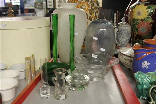 Orrefors Bowl with Other Art Glass Wares
