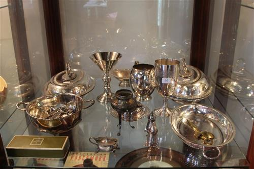 Silver Plated Meat Domes with Others Incl Cup