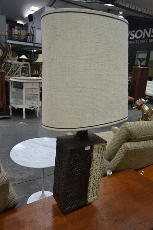 Large Salt Glazed Ceramic Table Lamp