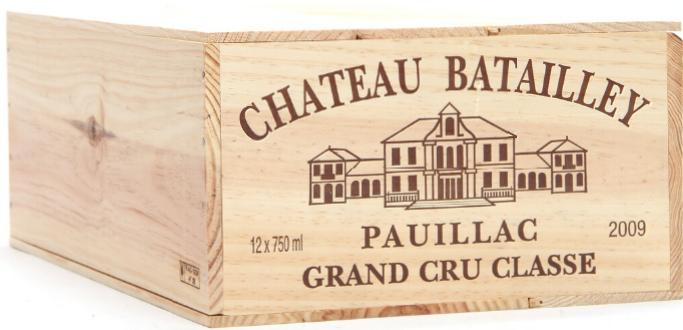 12 bts. Château Batailley, Pauillac. 5. Cru Classé 2009 A (hf/in). Owc