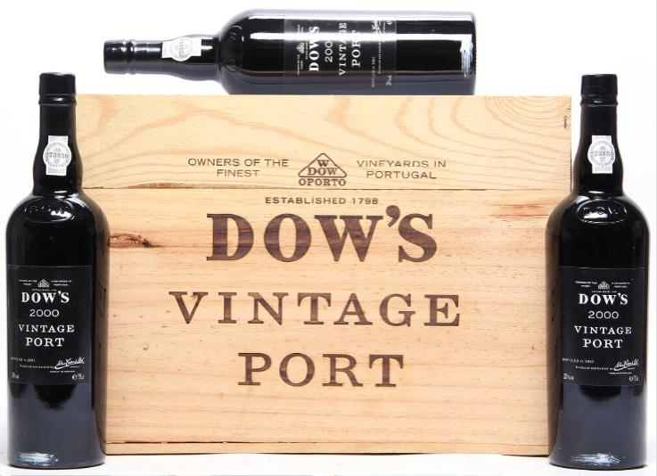 12 bts. Dow's Vintage Port 2000 A (hf/in). Owc.