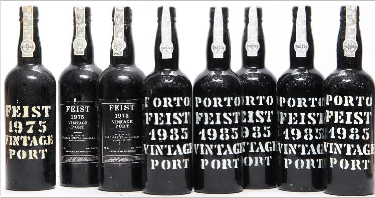 3 bts. Feist Vintage Port 1975 A (hf/in). etc. Total 8 bts