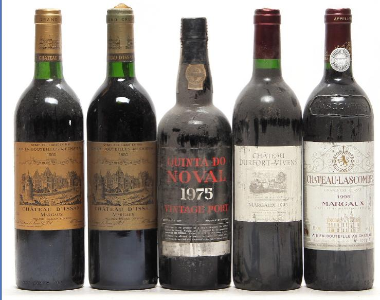 1 bt. Quinta do Noval Vintage Port 1975 A (hf/in). etc. Total 5 bts.