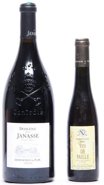 1 bt. Mg. Chateauneuf-du-Pape Vieilles Vignes, Domaine de la Janasse 2010 A (hf/in). etc. Total 2 bts.