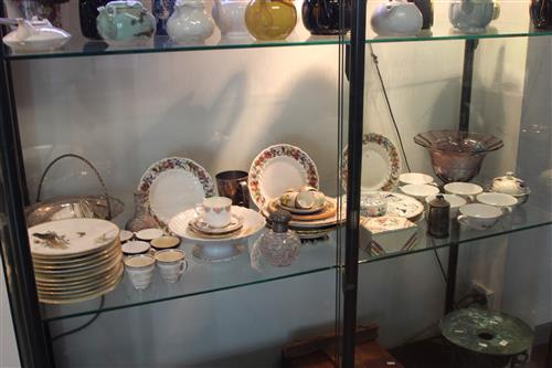 Royal Doulton Tintern Plates with Others incl. Limoges Tazza