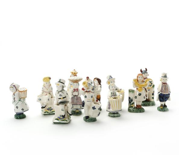 Collection of Child Welfare faience figurines