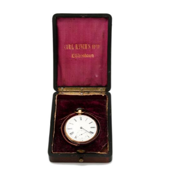 An 18k gold open-face pocket watch. 1880-1900