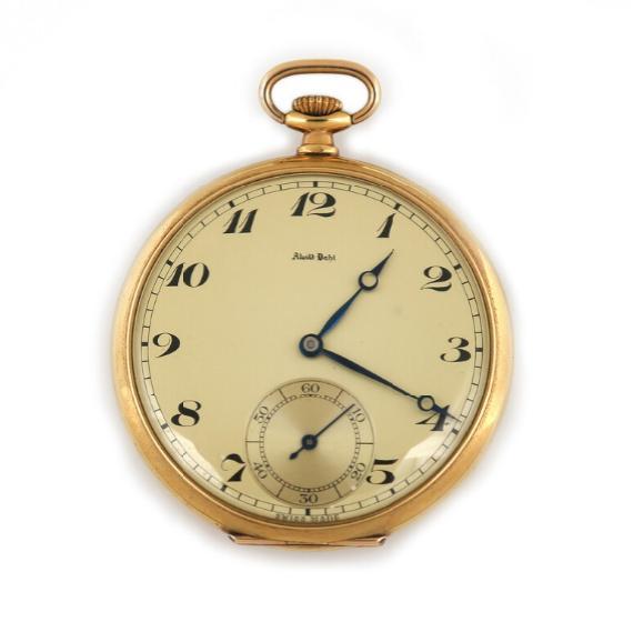 A 14k gold open-face pocket watch