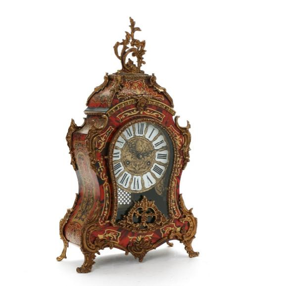 A French Louis XIV style mantel clock in Boulle manner