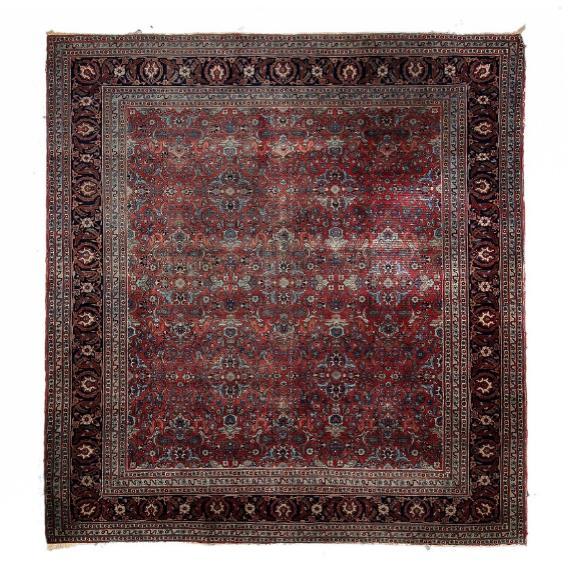 Square tabriz carpet, persia