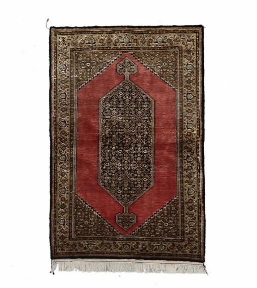 A Qum full silk rug, Persia