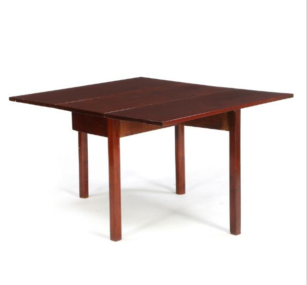 A George III mahogany drop-leaf table