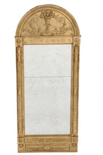 A late Gustavian giltwood mirror