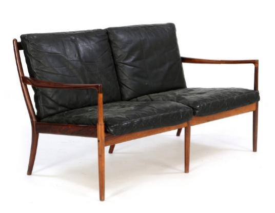 """""""Samsö"""" Two seater sofa of rosewood"""