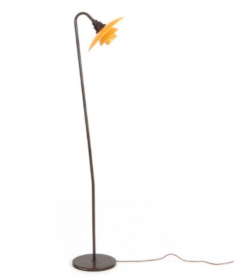 """""""PH-3/2"""". Oblique reading lamp with duco-lacquered stand"""