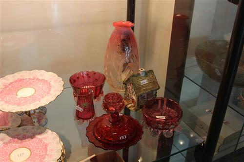 Victorian Glass Wares with Other Glass & a Pottery House
