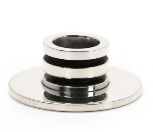 A low sterling silver candlestick