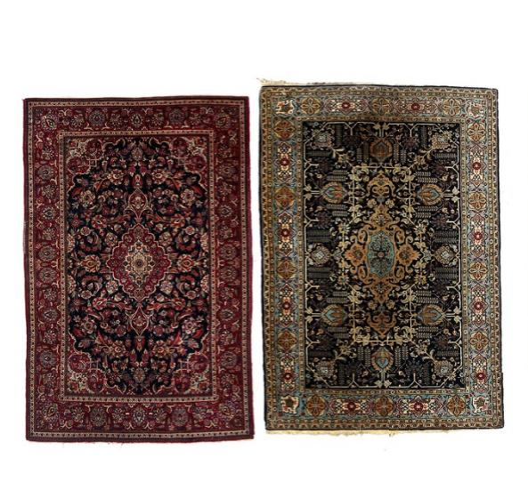 Two semiantique persian rugs