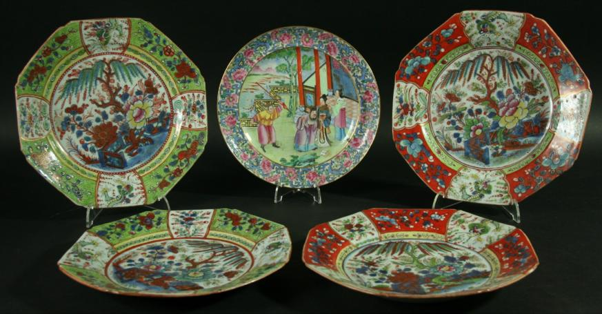 A CHINESE CANTON STYLE PLATE
