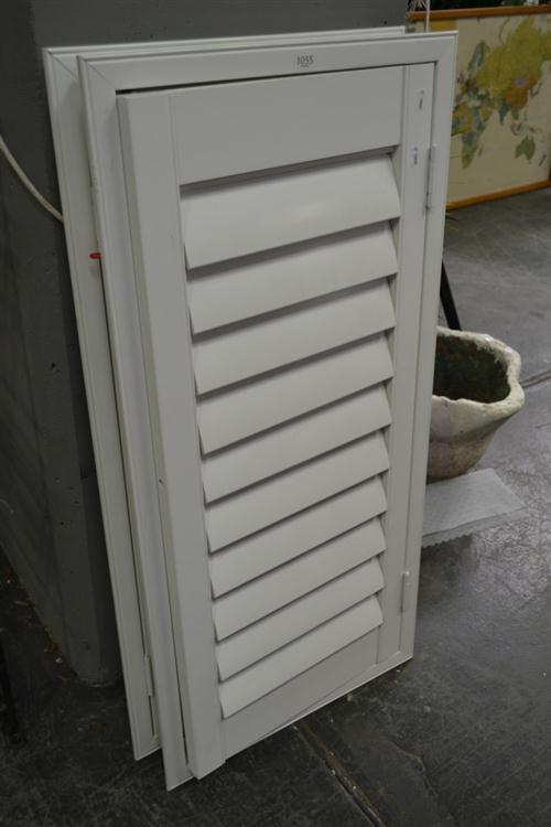 Pair Of White Venetian Window Shutters