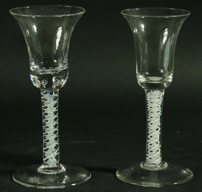 TWO 18TH CENTURY WINE GLASSES