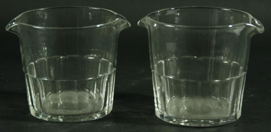 A SET OF FOUR WINE GLASS COOLERS