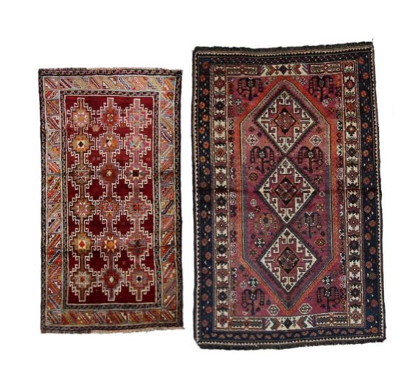 wo south Persian tribal rugs