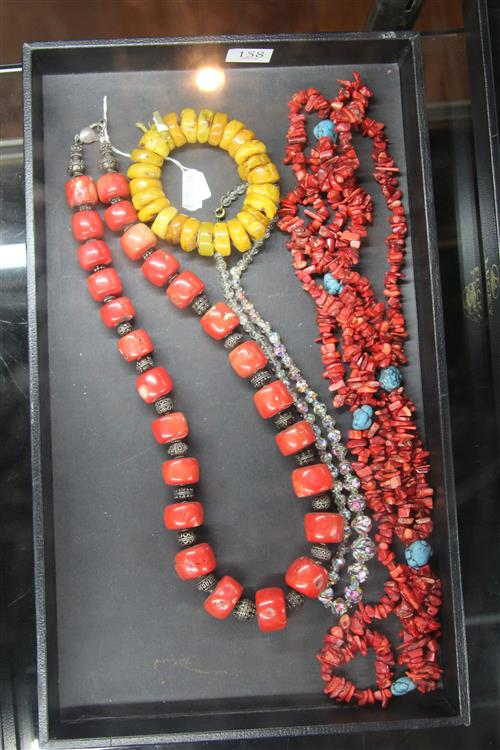 Coral Beads with Ladies Jewellery