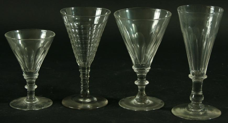 A MATCHED PART SET OF DRINKING GLASSES